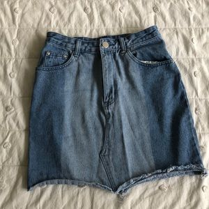 Two Tone Denim Skirt